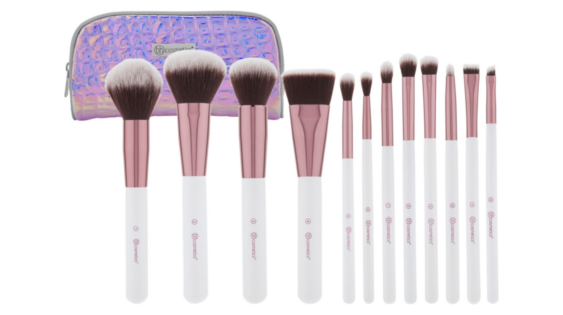ست-براش-کیفی-هلوگرامی-بی-اچ-کازمتیکس-b-h-cosmetics